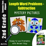 2nd Grade Length Word Problems - Subtraction