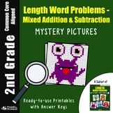2nd Grade Length Word Problems - Mixed Addition/subtraction