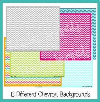 63 ActivInspire Backgrounds and More! Chevron Theme Mega Pack