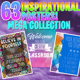 63 INSPIRATIONAL CLASSROOM POSTERS! Inspire your students!
