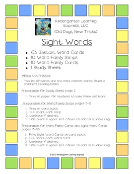 63 Sight Words