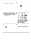 63 pages of 3rd and 4th grade morning math worksheets