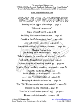 6301-8 Pre-Reading Strategies (Reading in the Content Area)