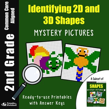 2nd Grade Shapes Identifying - 2D And 3D Shapes