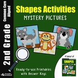 Math Mystery Pictures 2nd Grade Shapes Activity, Drawing Shapes Worksheets