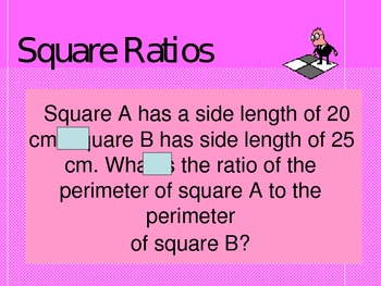 6.3a, 6.3c, 6.11c Square Ratios Power Point for Whole Class learning
