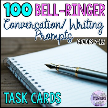 Engaging Discussion and Writing Prompts Task Cards