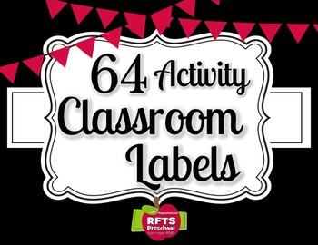 64 - CLASSROOM ACTIVITY LABELS for the Classroom