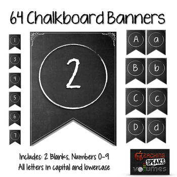 64 Chalkboard Banners