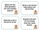 64 Christmas Writing Prompts and Story Starter Task Cards