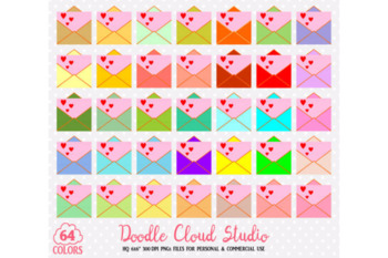 64 Colorful Mail Clipart Cute Rainbow Love Letter icons Mail Evelope planner