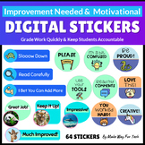 64 Digital Stickers for Google Classroom |Digital Stickers