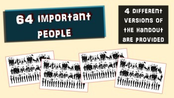 64 Important People Bobblehead Collage Activity (handouts & PPT included)
