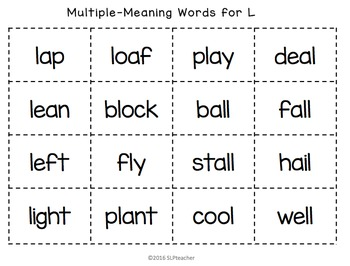 64 Multiple-Meaning Words for Language and Articulation
