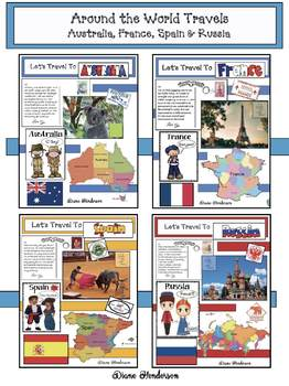 """""""While I Design"""" Around The World Travels 4-Countries BUNDLE"""
