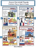 """Around The World Travels"" Australia, France, Spain & Russia BUNDLE"