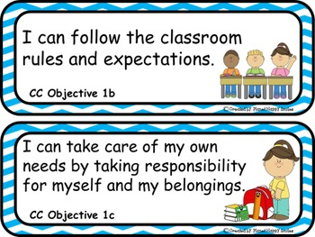 "64 Pre-K ""I can …"" Statements"