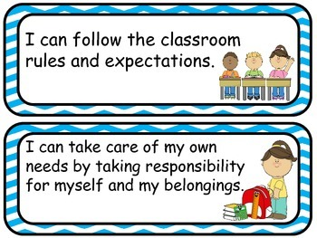 "64 Pre-K ""I can …"" Statements without objectives listed"