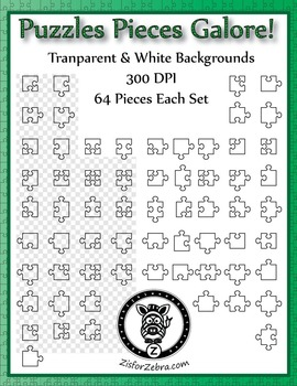 64 Puzzle Pieces - Make your own puzzles