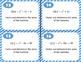 64 Quadratic Task Cards - Vertex, Solutions, Factors, Quadratic Formula