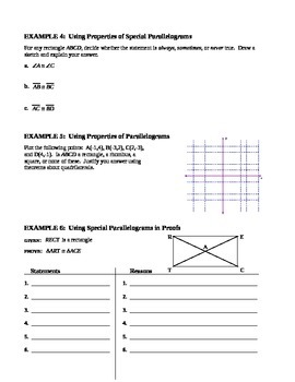 6.4 Rhombuses, Rectangles, and Squares (C) - Extra Teaching Practice