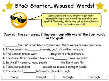 64 SPaG (Spelling, Punctuation and Grammar) Starter Activities!