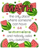 64 Watermelons Poster