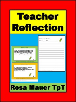 Teacher Writing and Discussion Reflection Prompts for Professional Development