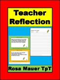 Teacher Writing and Discussion Reflection Prompts for Prof