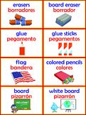 64 full color Labels in English & Spanish & 15 signs for centers English & Span