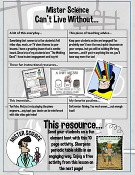 64 page freebee link! Middle School Jr high Science ebook fun engaging resources