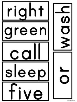644 Dolch and Fry Words for Word Walls/ ELA Centers - Editable