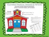 Math TEKS 6.4G:  Equivalent Fractions, Decimals and Percents Activities