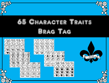 65 Character Trait Brag Tags for Middle School and older students