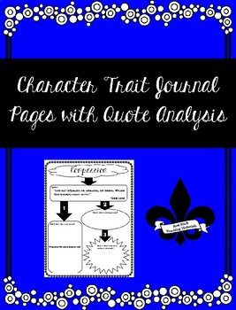 65 Character Trait Journal Pages