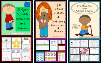 75 Games & Activities for Teaching Syllable Type Reading