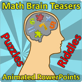 Math Brain Teasers - Bell Ringers - Logic Puzzles
