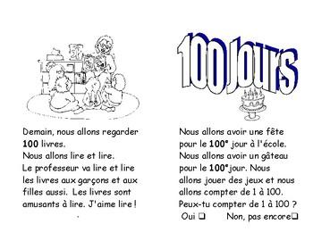 65) ONE HUNDREDTH DAYS  ON fête 100 jours à l'école  lecture ENFANT C1 1ère-2e