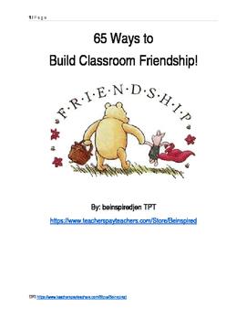 65 Ways to build a classroom community