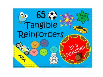 65 tangible reinforcers for discrete trial teaching.
