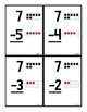 66 Subtraction Flash Cards (within 10) - with Tens Frames