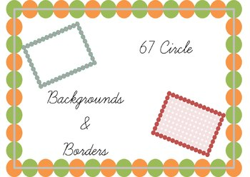 67 Circle Borders and Backgrounds