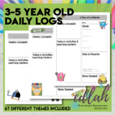 67 Different 3-5 YEAR Old Daily Care Logs