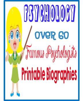 67 Famous Psychologists Printable Biographies