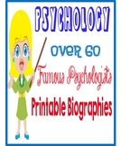 Psychology 67 Famous Psychologists Printable Biographies