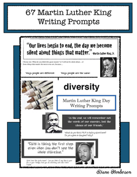 67 Martin Luther King Writing Prompts
