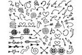 68 Arrows SVG doodles Bundle, Arrows Monogram SVG files.