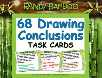 Drawing Conclusions (Inference) Task Cards and Test