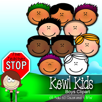 Kewl Kids Kid Faces - 68 Styles and Nationalities {The Teacher Stop}