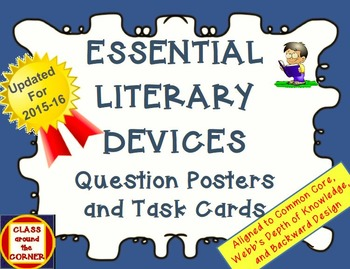 65 ESSENTIAL LITERARY DEVICES QUESTION POSTERS AND TASK CARDS